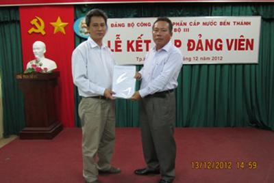Lễ kết nạp Đảng viên ngày 13/12/2012