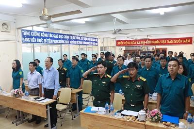 Lễ ra mắt Ban chỉ huy quân sự và Trung đội dân quân tự vệ Công ty Cổ phần Cấp nước Bến Thành
